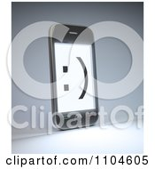 Clipart Smiley Face On A 3d Smartphone Screen Royalty Free CGI Illustration by Mopic