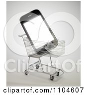 Clipart 3d Smartphone In A Shopping Cart 1 Royalty Free CGI Illustration by Mopic