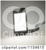 Clipart 3d Smartphone With A Charging Cord 2 Royalty Free CGI Illustration