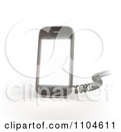 Clipart 3d Smartphone With A Charging Cord 1 Royalty Free CGI Illustration