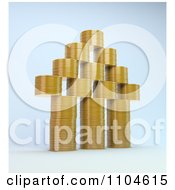 Clipart 3d House Made Of Stacked Gold Coins Royalty Free CGI Illustration by Mopic