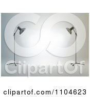 Clipart 3d Photography Studio Lights And White Backdrop Royalty Free CGI Illustration