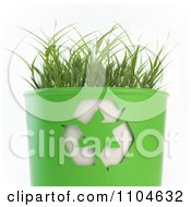 Clipart 3d Grass Growing In A Recycle Bin Royalty Free CGI Illustration by Mopic