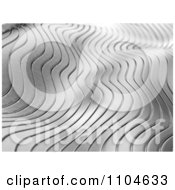 Clipart 3d Chrome Ripple Background 1 Royalty Free CGI Illustration