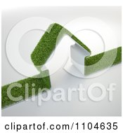 Clipart 3d Grass House Royalty Free CGI Illustration