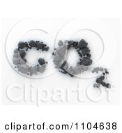 Clipart 3d Coal Forming CO2 Carbon Dioxide Royalty Free CGI Illustration