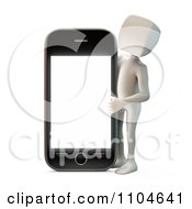 Clipart 3d White Person Holding Up A Smartphone 2 Royalty Free CGI Illustration