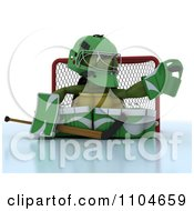 Clipart 3d Ice Hockey Goalie Tortoise Royalty Free CGI Illustration