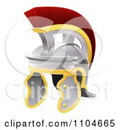 Clipart Red Crested Galea Style Helmet Royalty Free Vector Illustration
