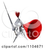 Clipart 3d Knight Announcing Through A Megaphone 1 Royalty Free CGI Illustration