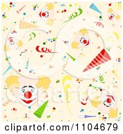 Clipart Seamless Party Clown Background Pattern Royalty Free Vector Illustration by dero