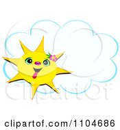 Clipart Sun Sticking Its Tongue Out And A Cloud Frame Royalty Free Vector Illustration by bpearth