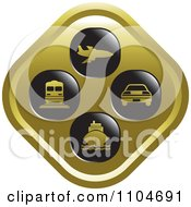 Clipart Gold Travel And Transportation Icon Royalty Free Vector Illustration