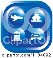 Clipart Blue Travel And Transportation Icon Royalty Free Vector Illustration