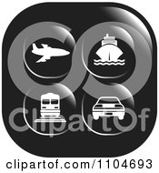 Clipart Black And White Travel And Transportation Icon Royalty Free Vector Illustration