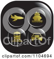 Black And Gold Travel And Transportation Icon