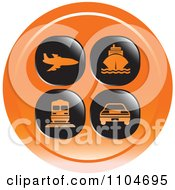 Clipart Orange Travel And Transportation Icon Royalty Free Vector Illustration