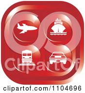 Clipart Red Travel And Transportation Icon Royalty Free Vector Illustration by Lal Perera