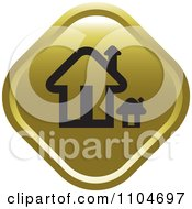 Gold Home Page Or House Icon