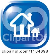 Clipart Blue Home Page Or House Icon Royalty Free Vector Illustration