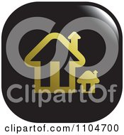 Clipart Black And Gold Home Page Or House Icon Royalty Free Vector Illustration