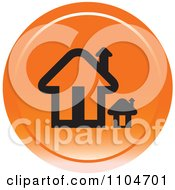 Clipart Orange Home Page Or House Icon Royalty Free Vector Illustration