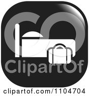 Clipart Black And White Lodging Hotel Icon Royalty Free Vector Illustration