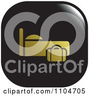 Clipart Black And Gold Lodging Hotel Icon Royalty Free Vector Illustration