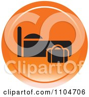 Clipart Orange Lodging Hotel Icon Royalty Free Vector Illustration