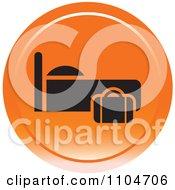 Clipart Orange Lodging Hotel Icon Royalty Free Vector Illustration