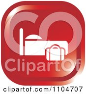 Clipart Red Lodging Hotel Icon Royalty Free Vector Illustration
