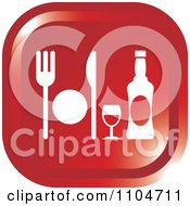Clipart Red Dining Icon Royalty Free Vector Illustration by Lal Perera