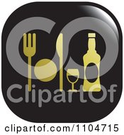 Clipart Black And Gold Dining Icon Royalty Free Vector Illustration by Lal Perera