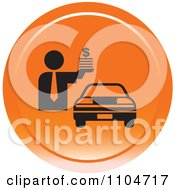 Clipart Orange Car Sales Icon Royalty Free Vector Illustration