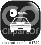Clipart Black And White Rental Car And Key Icon Royalty Free Vector Illustration