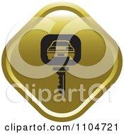 Clipart Gold Rental Car Key Icon Royalty Free Vector Illustration
