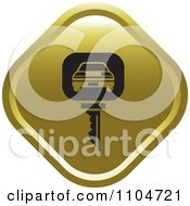 Gold Rental Car Key Icon