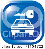 Clipart Blue Rental Car And Key Icon Royalty Free Vector Illustration
