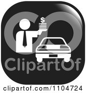 Clipart Black And White Car Sales Icon Royalty Free Vector Illustration