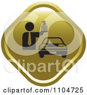 Clipart Gold Car Sales Icon Royalty Free Vector Illustration