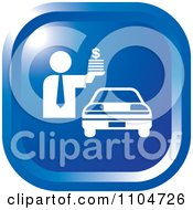 Clipart Blue Car Sales Icon Royalty Free Vector Illustration