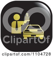 Clipart Black And Gold Car Sales Icon Royalty Free Vector Illustration