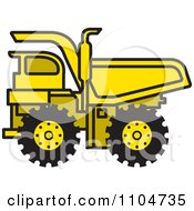 Clipart Yellow Dump Truck 1 Royalty Free Vector Illustration by Lal Perera