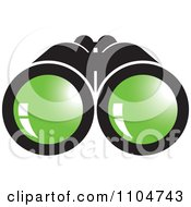Clipart Binoculars With Green Lenses Royalty Free Vector Illustration by Lal Perera #COLLC1104743-0106