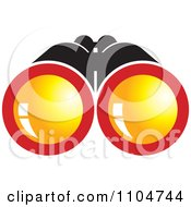 Clipart Binoculars With Orange Lenses Royalty Free Vector Illustration by Lal Perera
