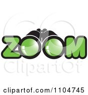 Clipart Binoculars And Zoom Text Royalty Free Vector Illustration by Lal Perera