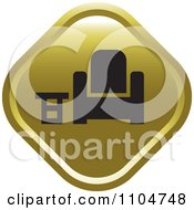 Clipart Gold Furniture Store Icon Royalty Free Vector Illustration by Lal Perera