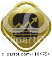 Gold Business Statistics Chart Arrow Graph Icon