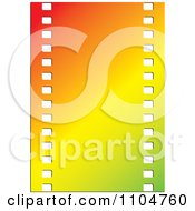 Clipart Gradient Film Strip Royalty Free Vector Illustration