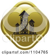 Gold Investment Property Apartment Building Icon